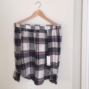 Sz XS New Dex flannel top